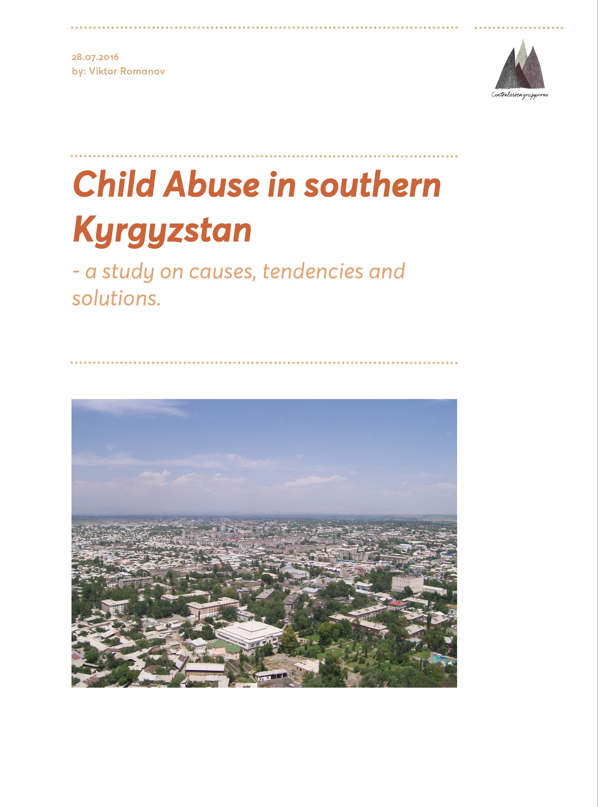 Child Abuse in southern Kyrgyzstan