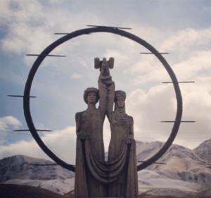 Monument in the Naryn region - Photography by Rachael Mather.