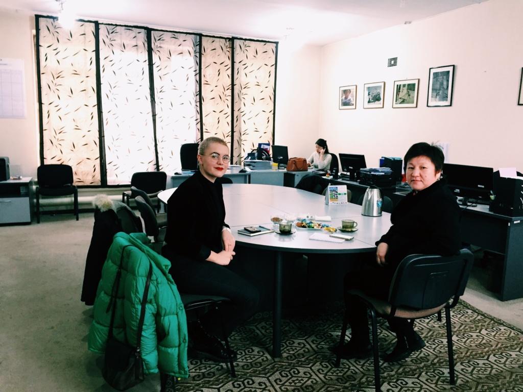 Amanda and Mira at CPC's office